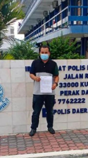 Perak Umno Youth lodges report against Fahmi over MB's 'sardine' poster