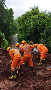 Heavy rain triggers floods in India, dozens trapped in landslides