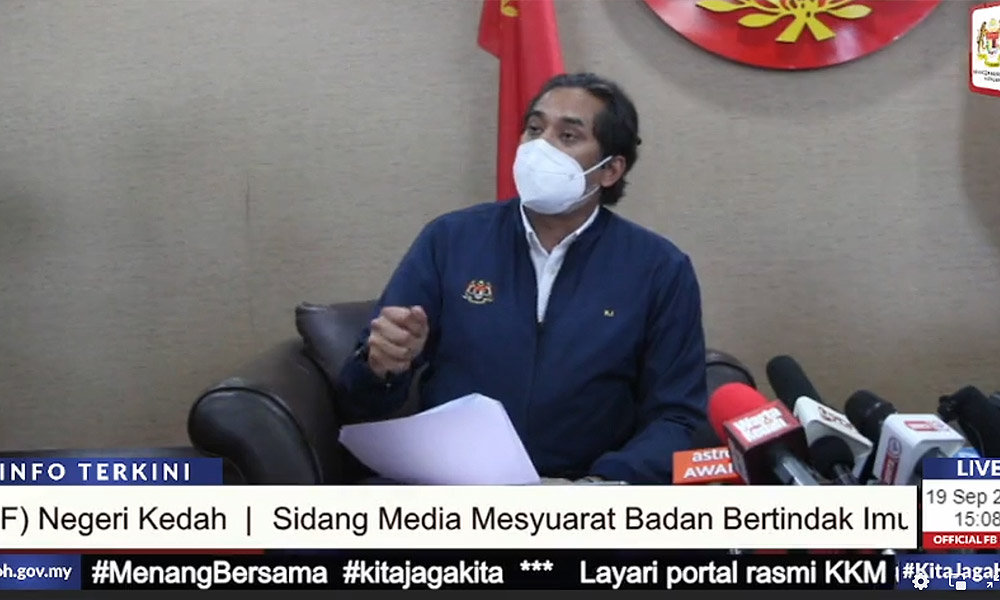 Khairy: Early October target for third dose of Covid-19 vaccine